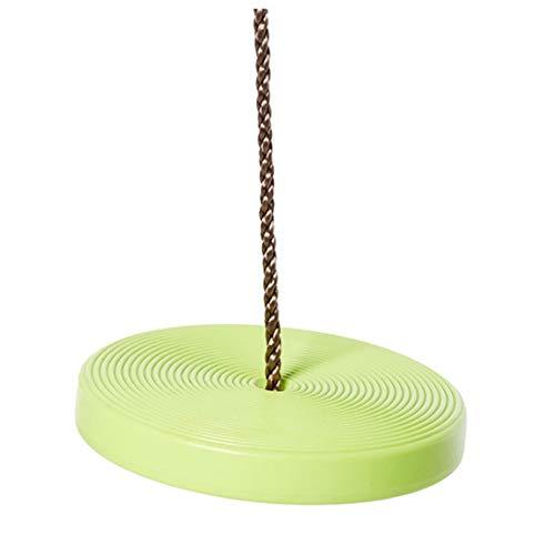Yamyannie Columpio para Niños Interior y Exterior del Disco de plástico Juguetes Columpio Que cuelga la Placa de Cubierta Columpio El Columpio Columpio Individual de los niños para Jardín