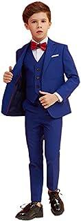 Boys Suits 5 Piece Slim Fit Suit,Ring Bearer Suits