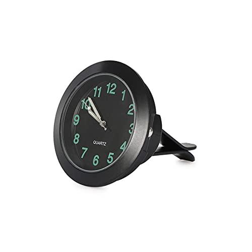 Reloj de Calibre Automático,Mini Reloj de Cuarzo de Ventilación de Aire para Automóvil con Clip Reloj de Salida de Aire Automático Relojes de Estilo para Automóvil