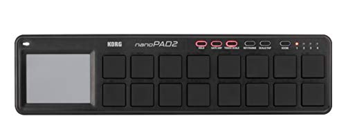 KORG nanoPAD2, USB-MIDI-Controller mit 16 Triggerpads, Schwarz