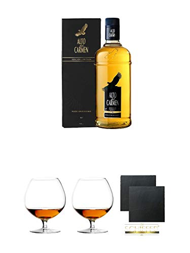 Pisco Alto del Carmen Reservado chilenischer Brandy 0,7 Liter + Geschenkset