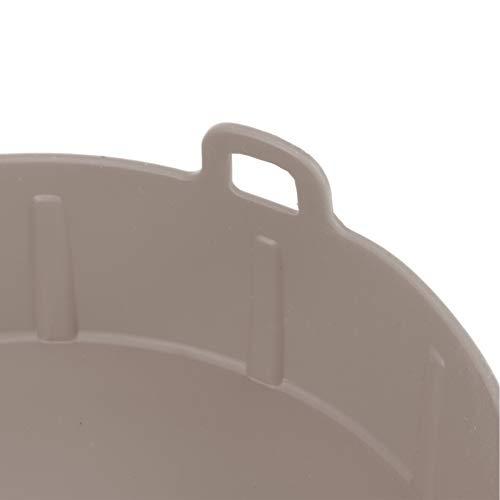 Revestimiento de sartén de silicona para sartén de aire(Brown)