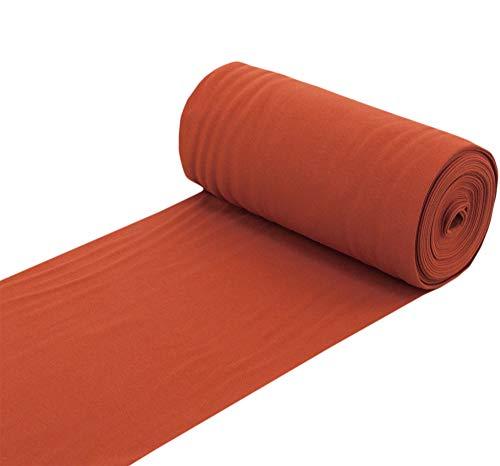 Nadeltraum Baumwolle Bündchenstoff Bündchen Schlauchware Stoff Kupfer - Meterware ab 25 cm x 70 cm