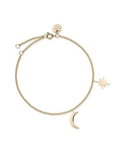 Rosefield Damen Mond und Sterne Armband Gold MSBG-J234