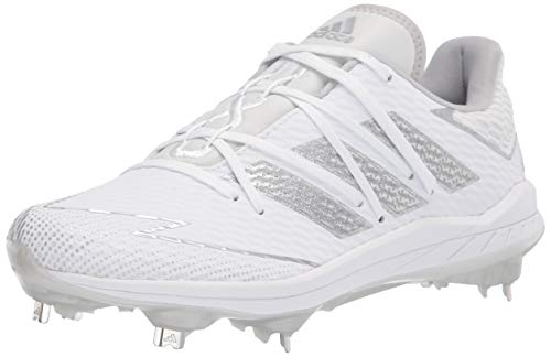 adidas Men's FV9400 Baseball Shoe, White/Silver/White, 7.5