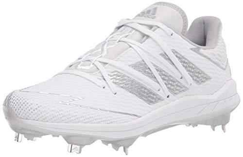 adidas Men's FV9400 Baseball Shoe, White/Silver/White, 8