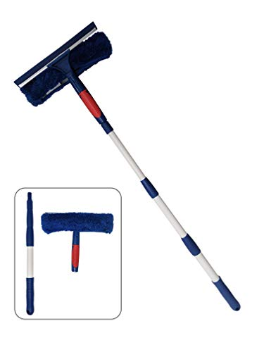Pomatree Window Cleaner Squeegee With Extension Pole Up