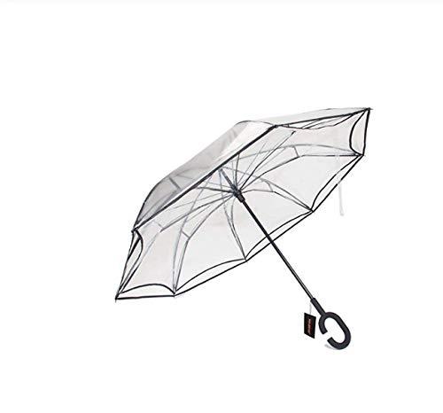 Paraguas Reverso Plegable Paraguas Invertido De Lluvia De Doble Capa A Prueba...