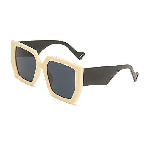 Gafas de Sol Gafas De Sol Cuadradas Retro Verdes Negras para Mujer, Gafas De Sol De Marca De Lujo para Hombre, Gafas De Sol De Hip Hop, Gafas Graduadas De Pierna Ancha para Mujer, Anteojos U