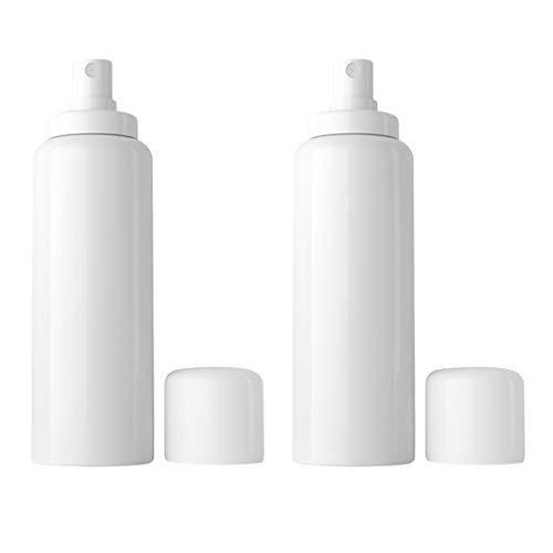 BESPORTBLE Bouteilles de Pulvérisation de Brume Fine 2Pcs 150Ml Bouteilles de Voyage en Plastique Vides Articles de Toilette Contenants de Liquide pour Le Maquillage Cosmétique (Blanc 2Pcs / Pack)
