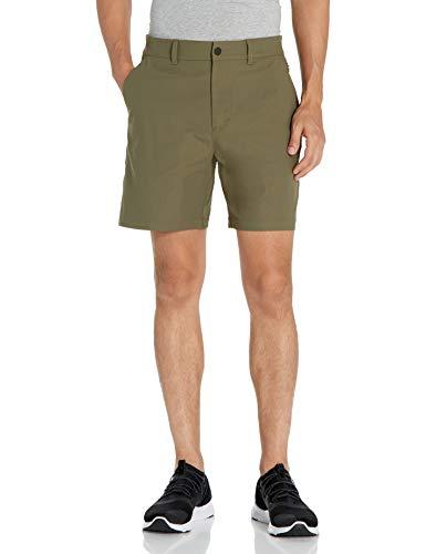 "Amazon Brand - Peak Velocity Men's Knit Jersey 7"" Travel Short, Olive, 34"