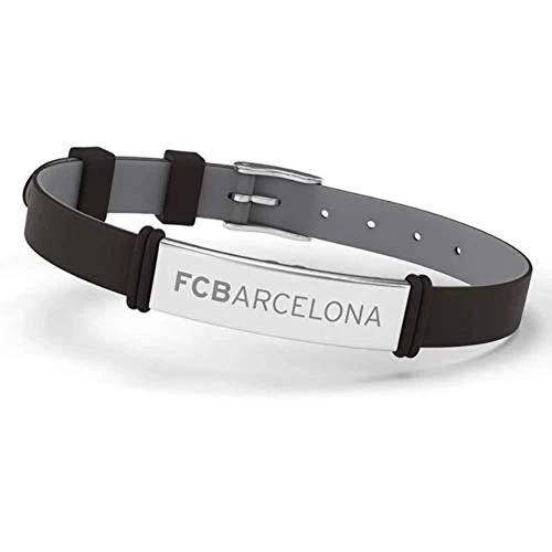 FCB Pulsera Fashion Ajustable para Hombre, Mujer y Niño, Negro