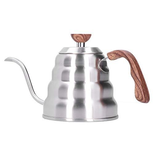 Omabeta Hervidor de té de Acero Inoxidable para Verter sobre hervidor de café hervidor de Cuello de Cisne hervidor de café Tienda de té Restaurante para el hogar(1.2L)