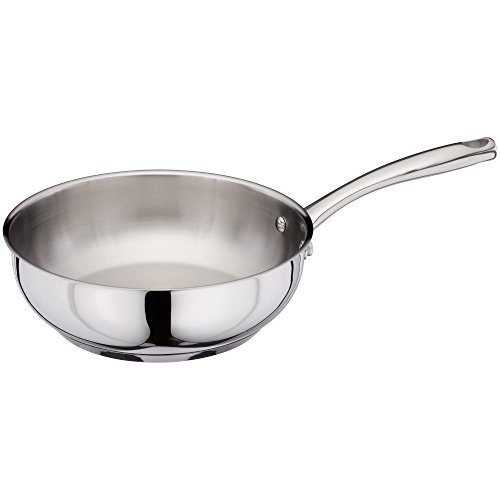 Stellar Speciality Cookware 24cm Stainless Steel Chef's Pan, ALL Hob Types