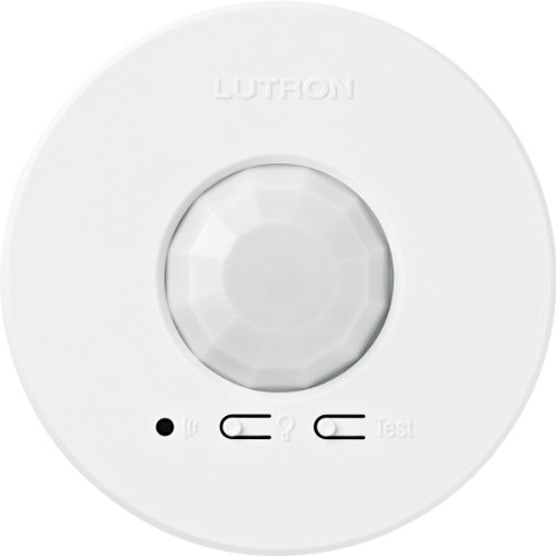 Lutron LRF2-VCR2B-P-WH Radio Powr Savr Wireless Ceiling-Mounted Vacancy Sensor, White