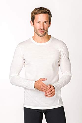 Super.Natural T-Shirt à Manches Longues en Laine mérinos pour Homme M Base LS 175 S Fresh White