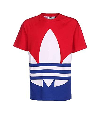 adidas Jungen Big Trefoil Tee T-Shirt (Kurzarm), Scharlachrot/Blau (Scarle/royblu), 1314