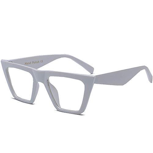Flat Top zonnebril voor mannen vrouwen Retro Designer Square Succinct Style zonnebril Clear Lens zonnebril UV400