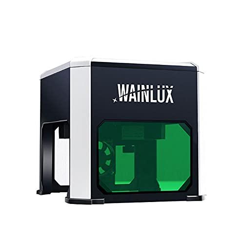 "WAINLUX K6 Laser Engraving Machine, Portable Laser Engraver 3000mW, Laser Printer Engraver Etching Range 3.15""×3.15'', Support WIN/Mobile System, DIY Art Marking, Logo Design"