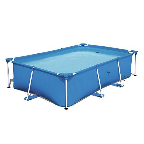 WN-PZF Jardín, Piscina Desmontable De Acero Pro Splash Estructura De La Piscina Rectangular con Estructura De Acero, De 259 X 170 X 61 Cm, 2300 litros, Azul