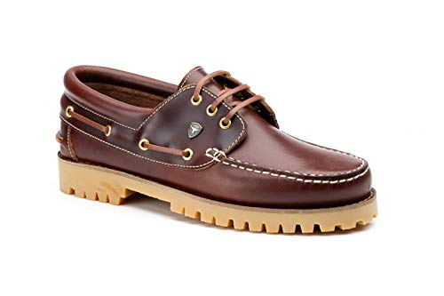 Herren Bootsschuhe Authentic 3 Eye Classic   Braun Brown   Pull Up-Leder (43 EU)