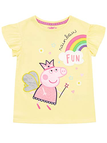 Peppa Pig Camiseta de Manga Corta para niñas Amarillo 5-6 Años