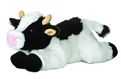 Aurora, 31430, Flopsies May Kuh, 30cm, Plüschtier, schwarz/weiß