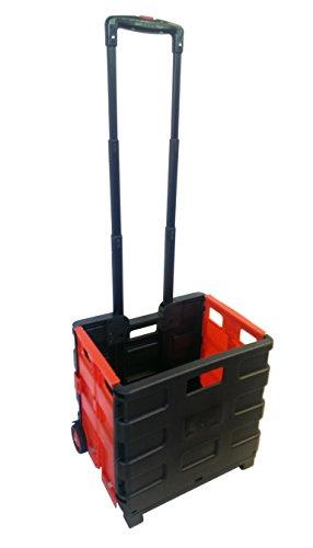 CF Technik GmbH Transportkiste Einkaufskorb Faltbox mit Räder Klappbox Einkaufstrolley Faltkiste