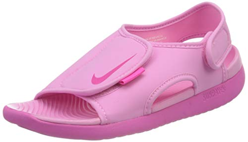 Nike Sunray Adjust 5 V2 (GS/PS) Sport Sandal, Psychic Pink/Laser Fuchsia, 38.5 EU