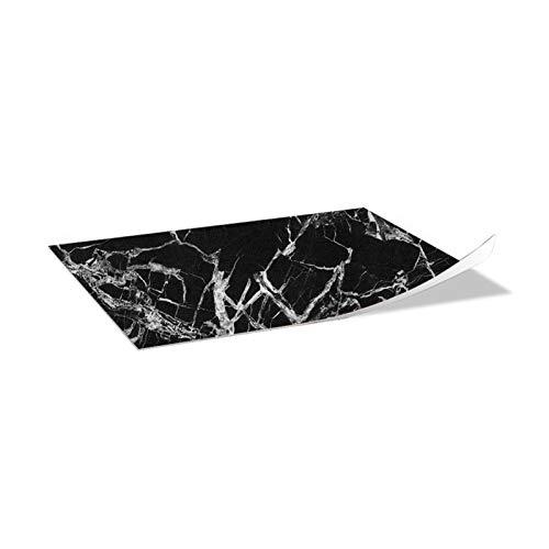 Ancoree Efecto Mármol 30 x 60cm 6pcs Pegatinas de Pared para la Encimera del Piso del Baño de la Cocina Calcomanías de Muebles Extraíbles Impermeables, Pegatina Multifuncional (A)