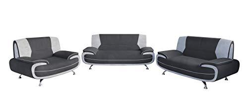 Mirjan24 Palermo 3+2+1 ! Sofagarnitur ! Sofas Sofa Couch! Große Farbauswahl! Couchgarnitur (Polstergarnitur 3+2+1, Mono 245 + Mono 243)