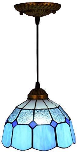 Lámpara de techo, luz de baño Estilo de araña creativa, cristal mediterráneo creativo colgante luminoso lámpara de techo retro pequeño iluminación pequeño accesorio para comedor bar restaurante, c
