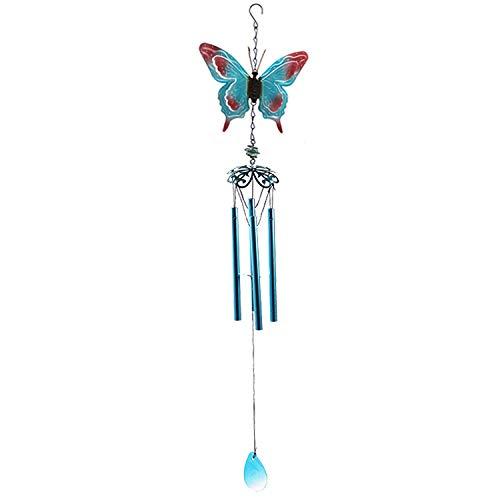YL-adorn art windspel, tuin en indoor windspel met natuurlijke ontspannende tinten, blauwe vlinder buis dier, wind chimes met S haken, voor decoratie Kerstmis geschenken