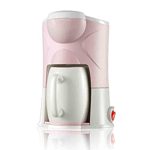 Ekspres do kawy maszyna do kawy Espresso maszyna pojedyncza osoba pojedyncza filiżanka biura mała automatyczna ekspres do kawy odpowiedni do warzenia kawy (Color : Pink, Rozmiar : One size)
