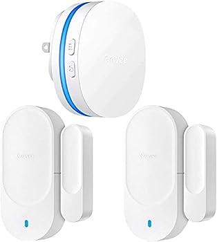 Govee Door Open Chime Upgraded 2 Magnetic Door Alarm Sensor for Home/Bussiness Door Alarms for Kids Safety 1 Wireless Receiver  328 Feet 36 Tunes 5 Volume Levels LED Indicators