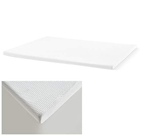 MAXCOLCHON Topper Mlily viskoelastisch, 4 cm Mit Milbenschutzbehandlung, Matratzenauflage abnehmbar und rutschfest. 140 x 190 cm