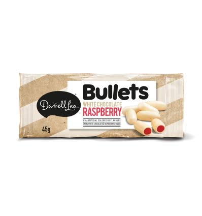 Darrell Lea White Chocolate Raspberry Bullets 45g x 18