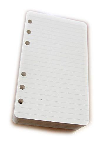 tipome.com 200 Hojas Repuesto//Recambio para Agenda A5 con 6 Anillos Cuadriculado 14,5x20,5cm Color Marfil papiel 120gr