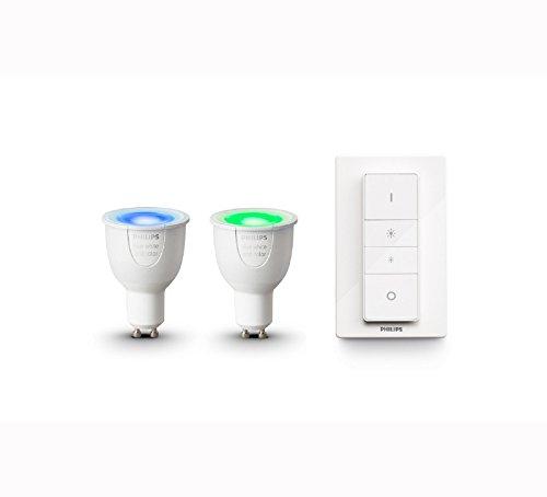 Philips Hue Lot de 2 Ampoules Connectées White & Color GU10 +...