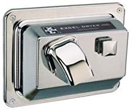 product image for Excel Dryer H76-C Hair/Hand Dryer Hands On, Push-Button, Cast Cover, Surface-Mounted, Chrome Plated, 110-120V 60Hz