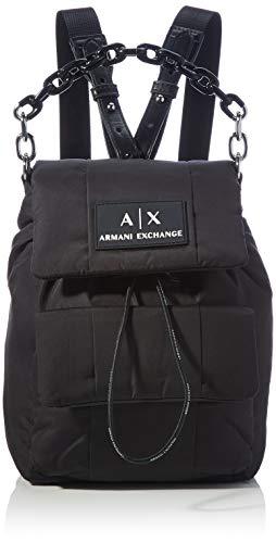 Armani Exchange Backpack, mochila para Mujer, Black, One Size