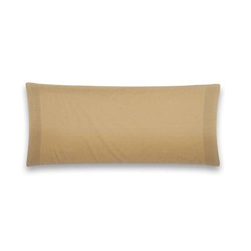 Sancarlos - Funda de almohada para cama, 100% Algodón percal, Color marrón, Cama de 150 cm