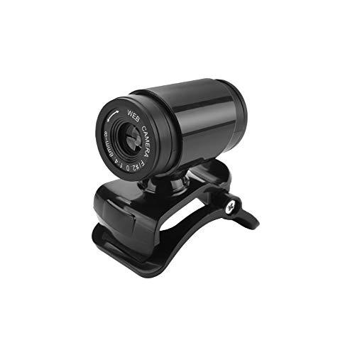 WNSS9 Premium HD Webcam, 480 Transmisión de webcam con micrófono, USB PC portátil Webcam, Cámara Web Pro Grabación de vídeo, cámara de enfoque manual for Videoconferencia, Mini grabador de vídeo for l