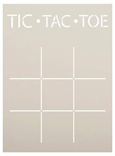 Tic Tac Toe Board Stencil by StudioR12 | DIY Family Children XOXO Game Home Decor Gift | Craft & Paint Wood Sign Reusable Mylar Template | Select Size (5.5 inches x 7.5 inches)