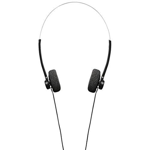 Hama Stereo Kopfhörer On-Ear (Retro Design, angenehme Polsterung, guter Sound, 1,20 m Kabel, Bügel-Kopfhörer) schwarz/silber