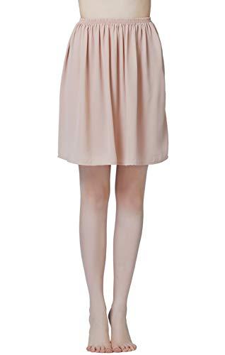 Mujer Enagua de Gasa Corta Antiestática Combinación para Vestido Antideslizante Plain Falda Blanco Marfil Negro Azul Marino