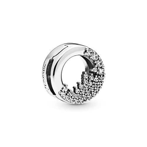 Pandora 925 plata esterlina colgante de la joyería Shimmering Icicles Charms Clip Charm Fit Joyería de la pulsera