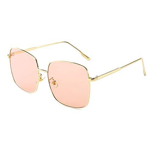 NgMik Gafas De Sol Polarizadas Marco De Metal De Las Señoras Cuadrado Retro Gafas De Sol Gafas De Sol Grandes De Conducción De Compras Clásico (Color : Orange, Size : One Size)