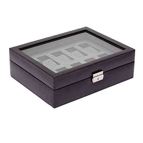 Wolf Designs 99507 Heritage 10 PC Watch Box with Glass Cover