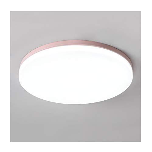 GPZ-iluminación de techo Luz de techo - Nordic Simple Color Lámparas de techo LED de hierro Acrílico Niño Dormitorio Estudio Mesa de comedor Decoración de oficina Iluminación [Clase de eficiencia ener